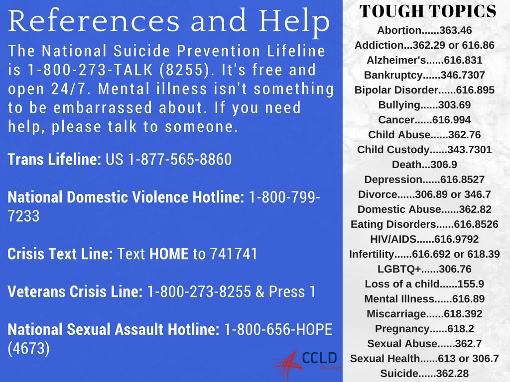 Mental Health Resources Chemung County Library District