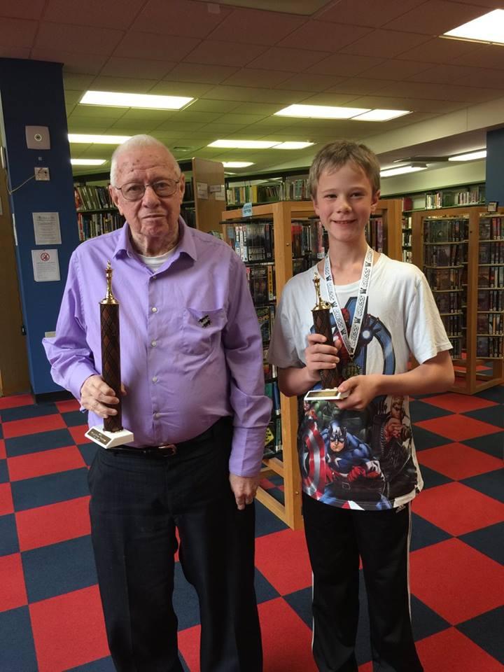 left: 1st place, Walter Buehl; right: 3rd Sam VanDyke