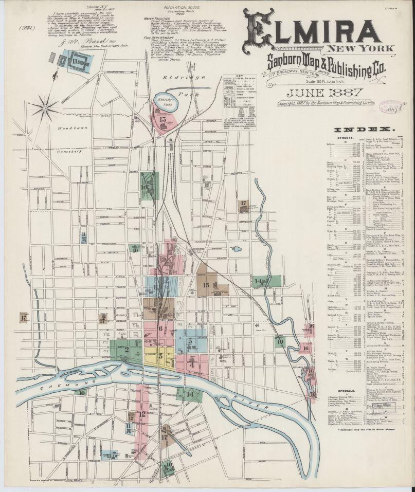 Elmira, NY Sanborn Map